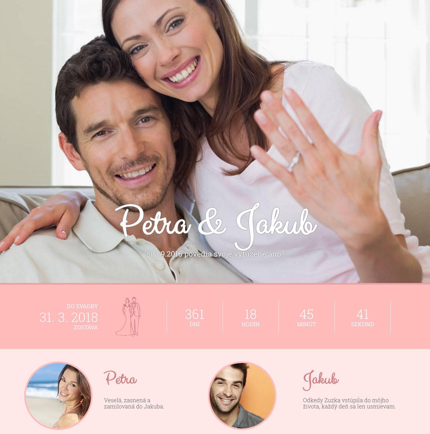 Novinka! Oddnes si každá z vás môže vytvoriť vlastnú online svadobnú pozvánku :) prekvapte a potešte svojich hostí vašim svadobným webom, v ktorom sa dozvedia všetky podrobné informácie o priebehu vášho svadobného dňa. Vytvorenie svadobnej pozvánky je úplne jednoduché a úplne zadarmo :) Stačí kliknúť na www.mojasvadba.sk/invitation, začať editovať a za pár minút to máte :) Kto už to vyskúšal? :) - Obrázok č. 1