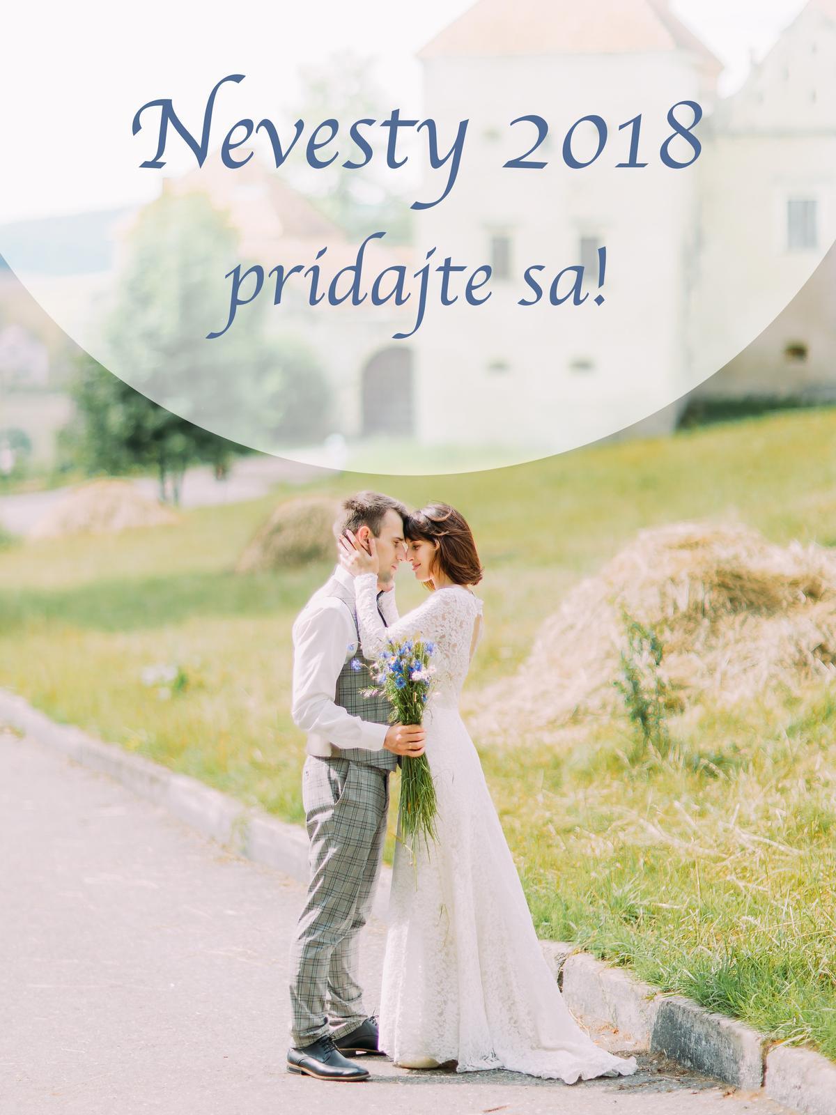 Dnes som si všimla, že už je tu zaregistrovaných až 700 neviest, ktoré majú svadbu budúci rok. A tak som vytvorila skupinu pre všetky nevesty 2018 :) Pridajte sa a zdieľajte predstavy, pokroky, pocity, radosti aj starosti, spojte sa a pomáhajte si :) link na skupinu: https://www.mojasvadba.sk/group/6797/detail - Obrázok č. 1