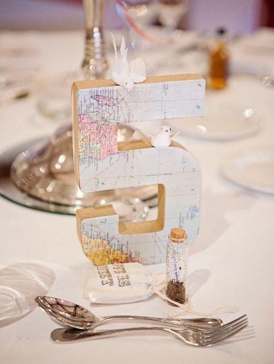 Nápady na číslovanie svadobných stolov - Obrázok č. 38