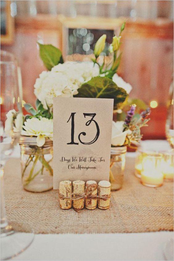 Nápady na číslovanie svadobných stolov - Obrázok č. 48