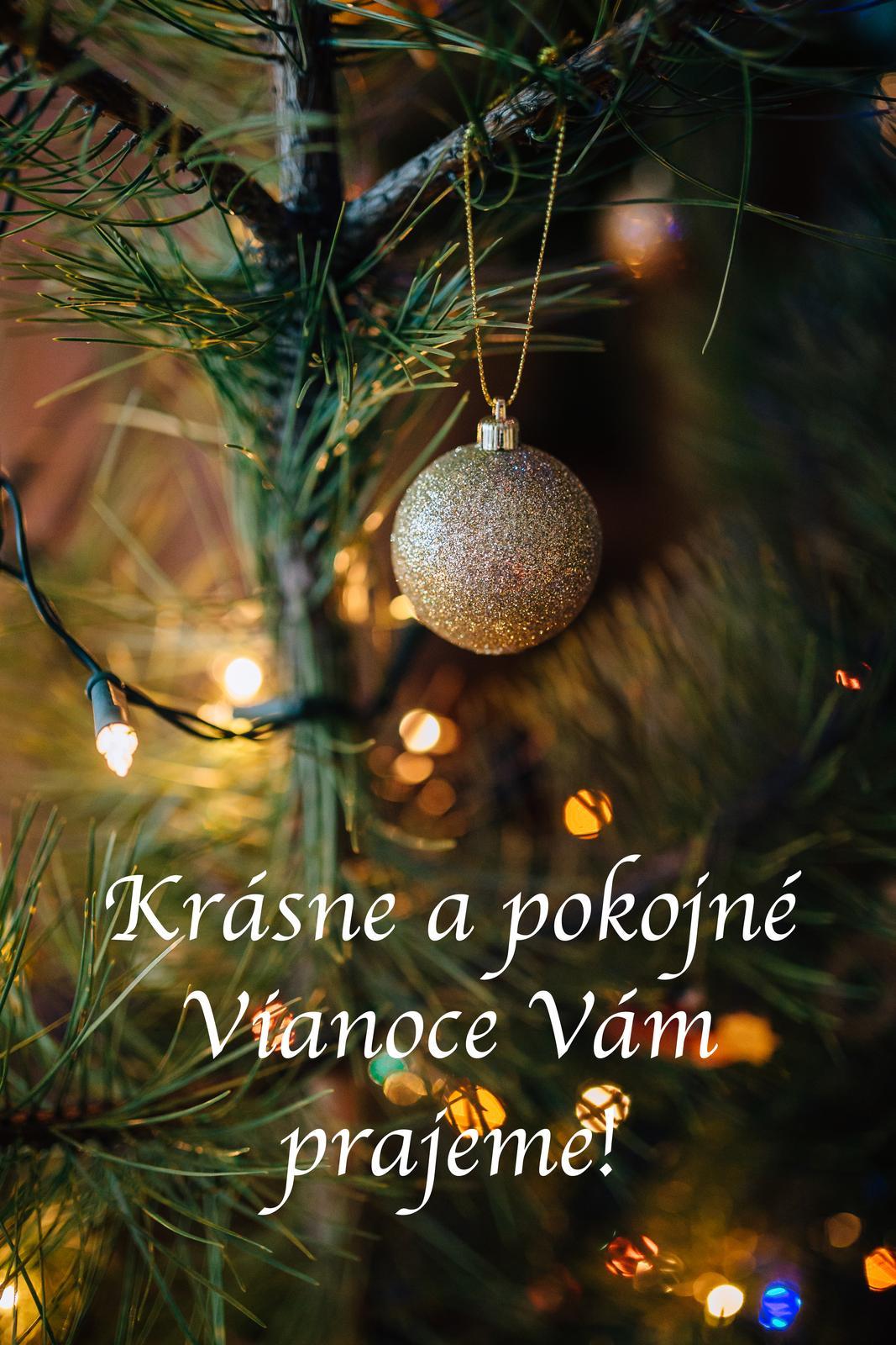Za celý tím Mojej svadby vám prajem krásne a pokojné Vianoce. Oddýchnite si s tými najbližšími a vychutnajte si tie chvíle čarovné, vianočné :) - Obrázok č. 1