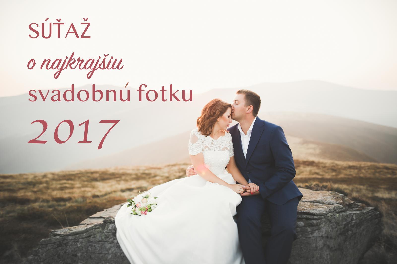 Minuloročné nevesty, dúfam, že ste ešte tu :) práve sme spustili Súťaž o najkrajšiu svadobnú fotku 2017: https://www.mojasvadba.sk/forum/mojasvadba-sk/sutaz-hladame-najkrajsiu-svadobnu-fotku-roka-2017-na-mojasvadba-sk Zapojíte sa do súťaže aj vy? Mohli by sme si minuloročnú skvelú svadobnú sezónu ešte poslednýkrát zrekapitulovať, pripomenúť si tie nádherné svadobné okamihy, ktoré ste prežili a ako bonus 3 z vás môžu získať malé ceny. :) - Obrázok č. 1