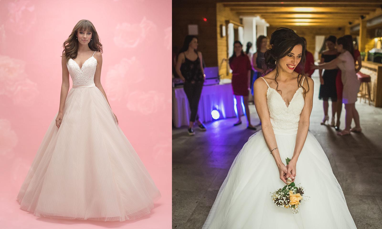 Svadobné šaty na modelke a na reálnej neveste - Nevesta @luc_lucka a jej svadobné šaty Allure Bridals Model 3050 zo salónu Glamour of Angels.