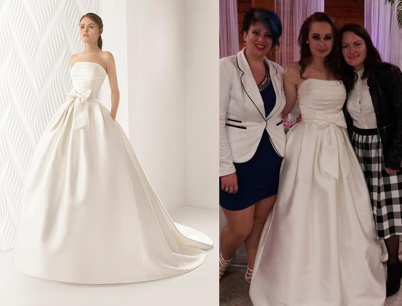 Svadobné šaty na modelke a na reálnej neveste - Nevesta @renya3 a jej svadobné šaty Rosa Clará Encanto zo Svadobného salónu LERYA