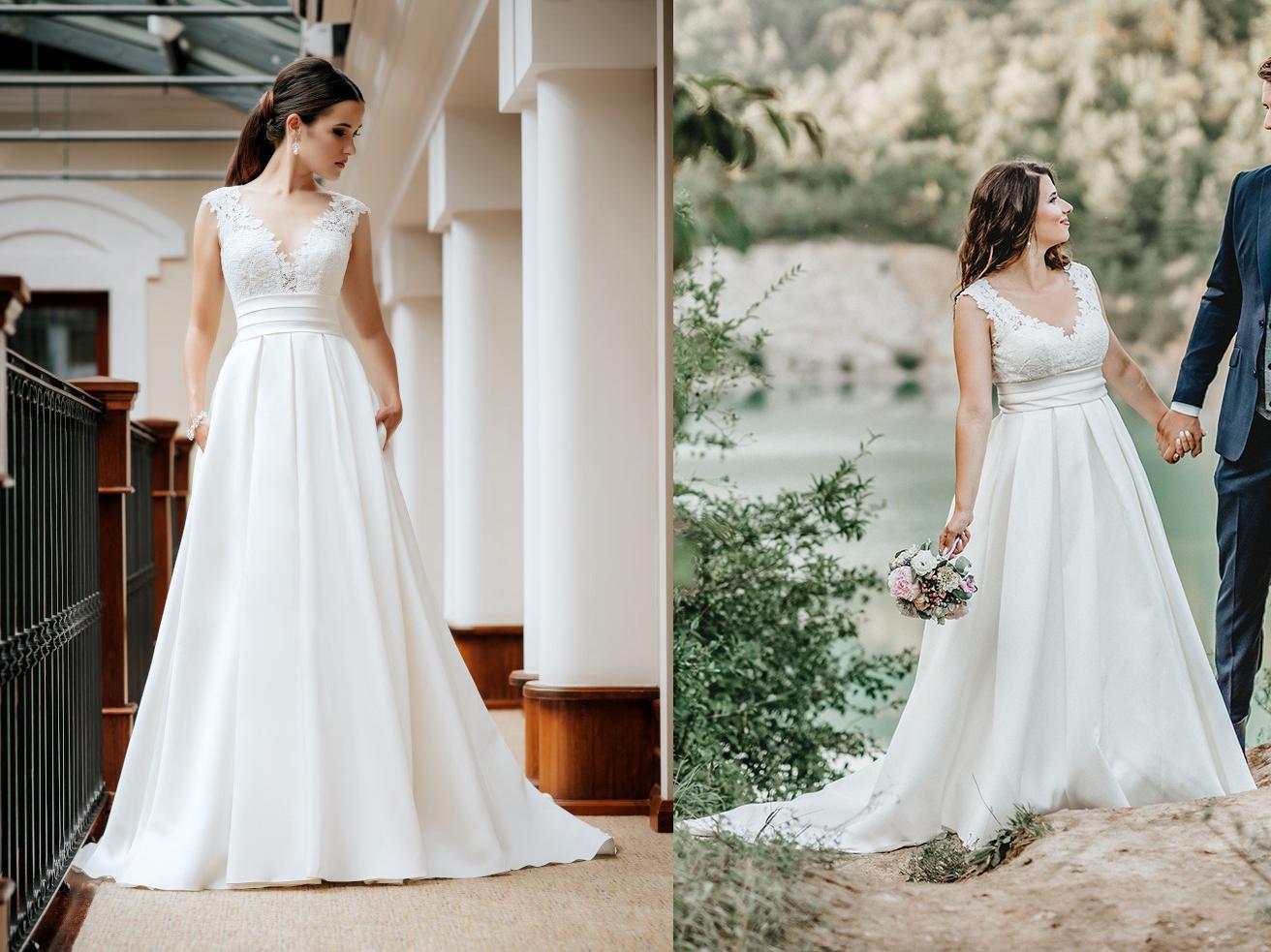 Svadobné šaty na modelke a na reálnej neveste - Nevesta @ronicka a jej svadobné šaty Igar Euphoria 1737