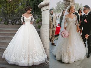 Nevesta @viky91 a jej svadobné šaty Milla Nova, model Diona zo salónu Wedding Avenue.
