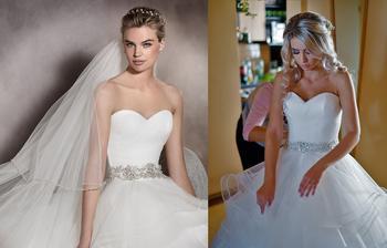 Nevesta @karina07 a jej svadobné šaty Pronovias Albania 2017 zo Salónu Nicole v Bratislave.
