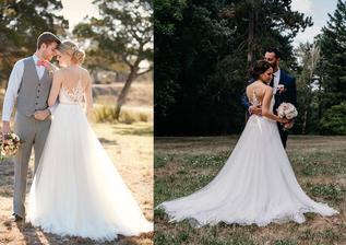 Nevesta @dancula12 a jej svadobné šaty kúpené z Essense of Australia, model D2085.