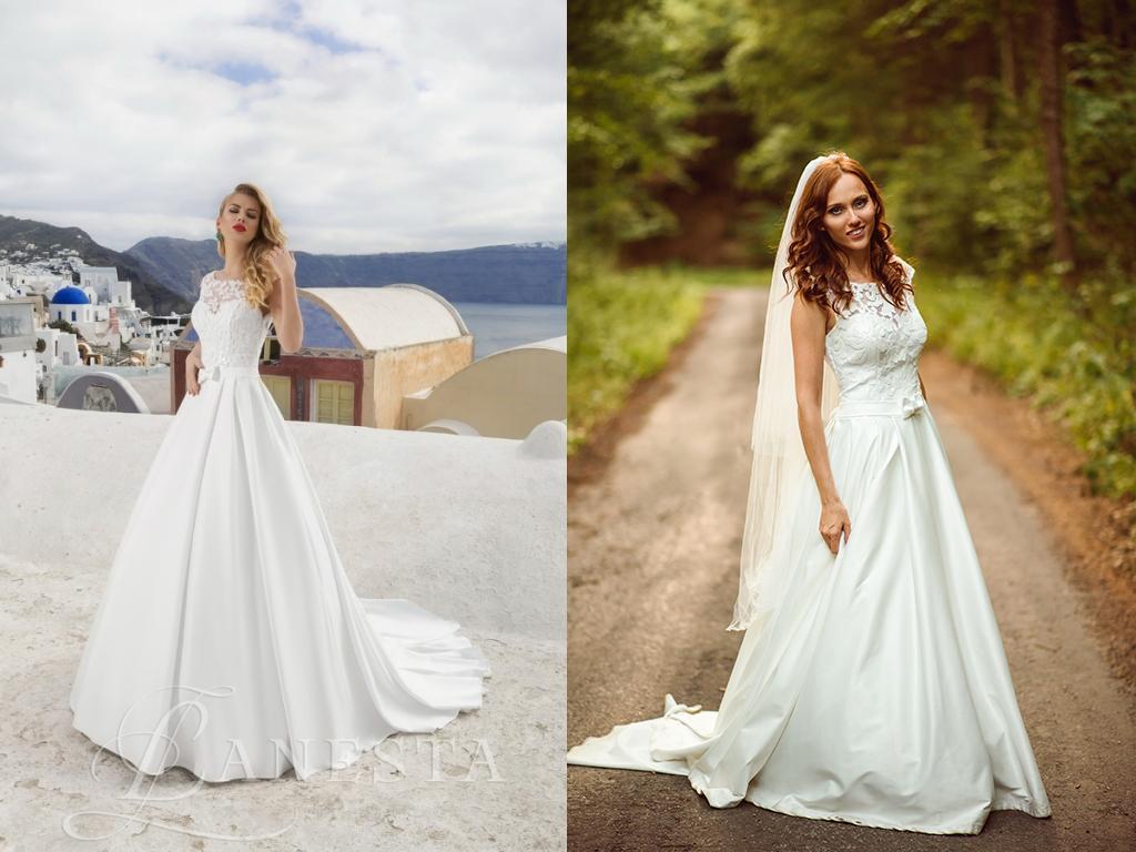 Svadobné šaty na modelke a na reálnej neveste - Nevesta @tralalik_1 a jej svadobné šaty značky Lanesta, model Mondial zo salónu MyLady v Trenčíne.