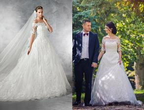 Nevesta @michaela300917 a jej svadobné šaty Pronovias Pleasant zo salónu Nicole v Nitre.