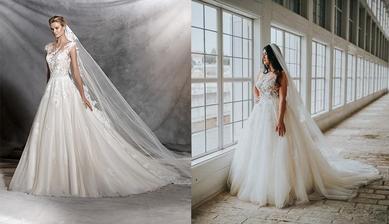 Nevesta @nikus296 a jej svadobné šaty Pronovias Ofelia zo Svadobného salónu WEM.