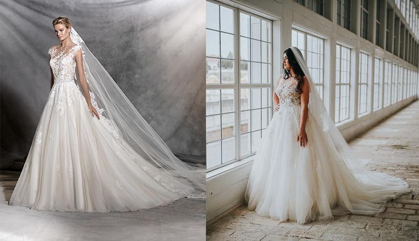 Svadobné šaty na modelke a na reálnej neveste - Nevesta @nikus296 a jej svadobné šaty Pronovias Ofelia zo Svadobného salónu WEM.