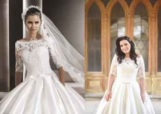 Krásna nevesta @levandullka a jej svadobné šaty La Sposa model Ruperta zo salónu WEM v Bratislave.
