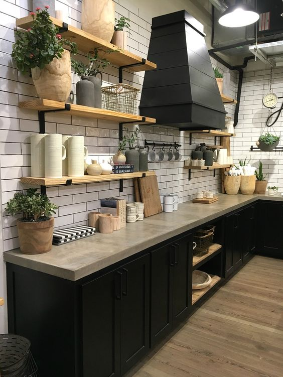 Kuchyne s otvorenými poličkami - Obrázok č. 34