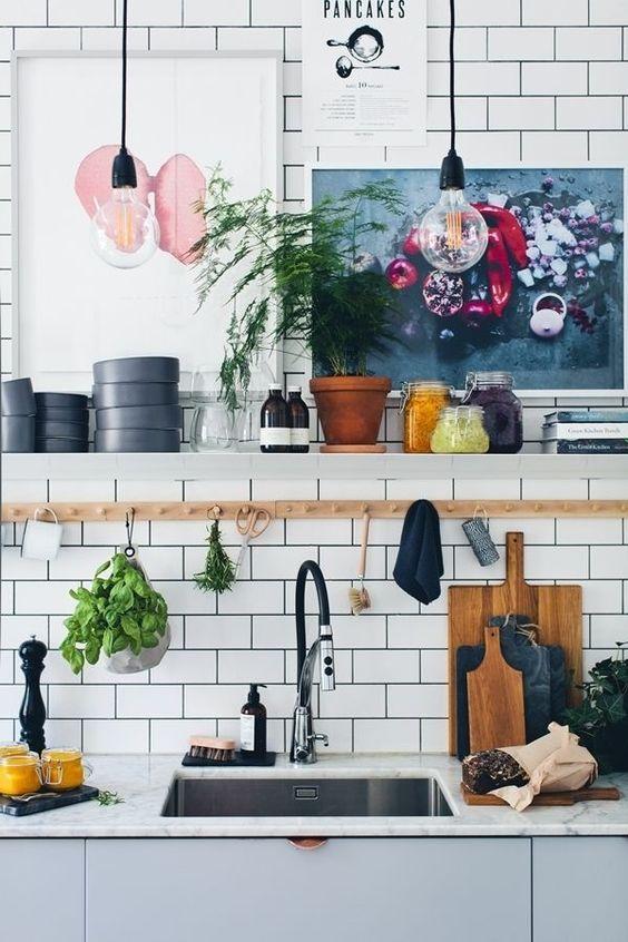 Kuchyne s otvorenými poličkami - Obrázok č. 38