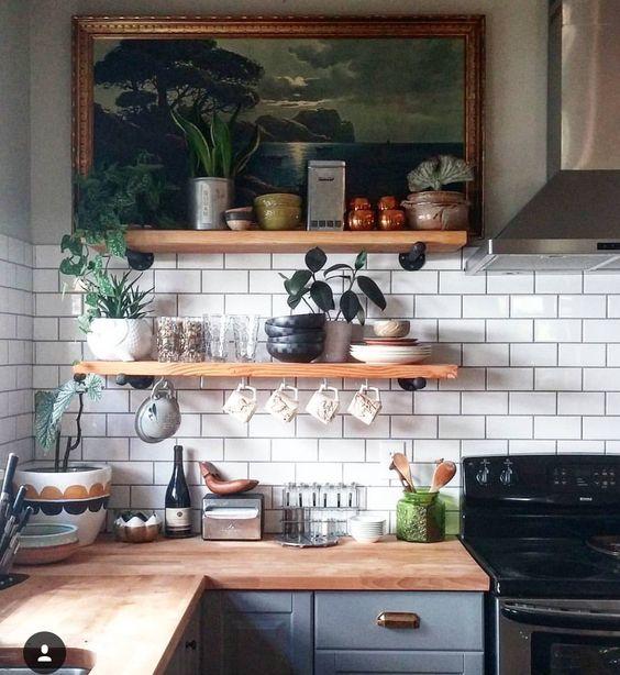 Kuchyne s otvorenými poličkami - Obrázok č. 42