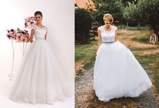 Nevesta @lucynkaa9 a jej svadobné šaty značky Hadassa, model Lany zo svadobné salónu EvaMária v Seredi.