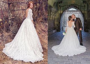 Nevesta @denka673 a jej svadobné šaty Maggie Sottero, model Cordelia zo Salón El v Bratislave.