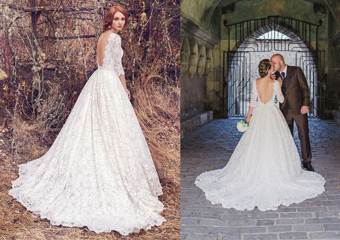 Svadobné šaty na modelke a na reálnej neveste - Nevesta @denka673 a jej svadobné šaty Maggie Sottero, model Cordelia zo Salón El v Bratislave.