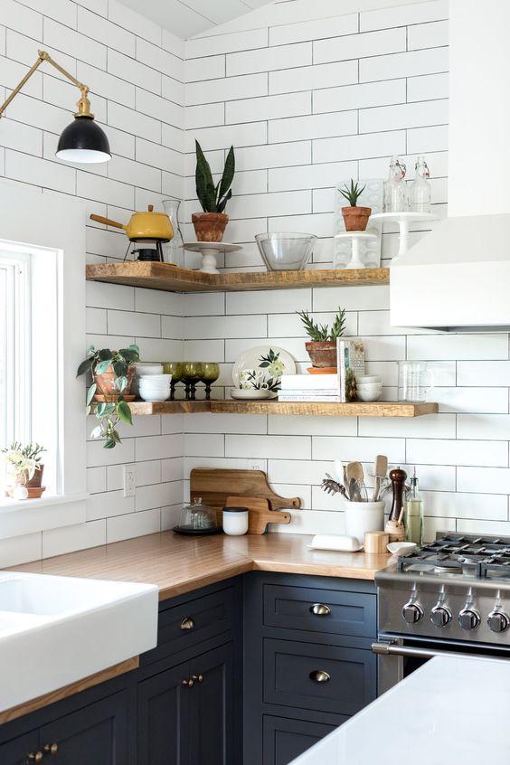 Kuchyne s otvorenými poličkami - Obrázok č. 76