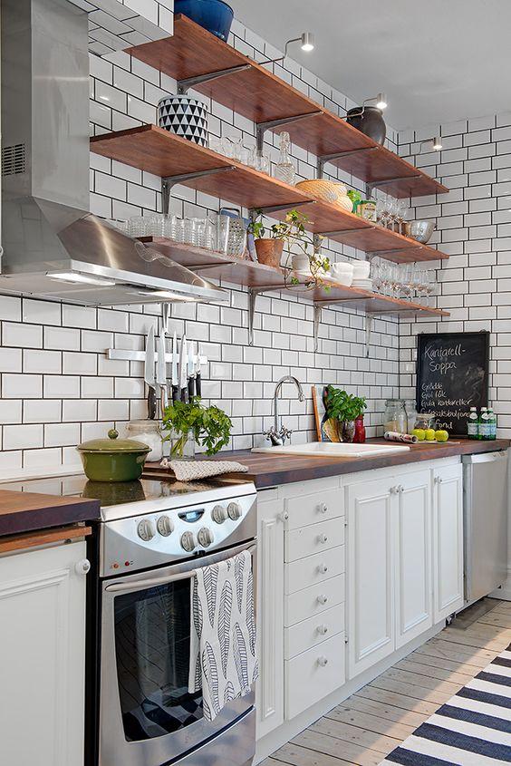 Kuchyne s otvorenými poličkami - Obrázok č. 81