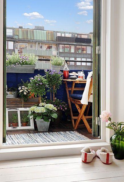 Malý balkón s veľkou atmosférou - inšpirácie - Obrázok č. 118