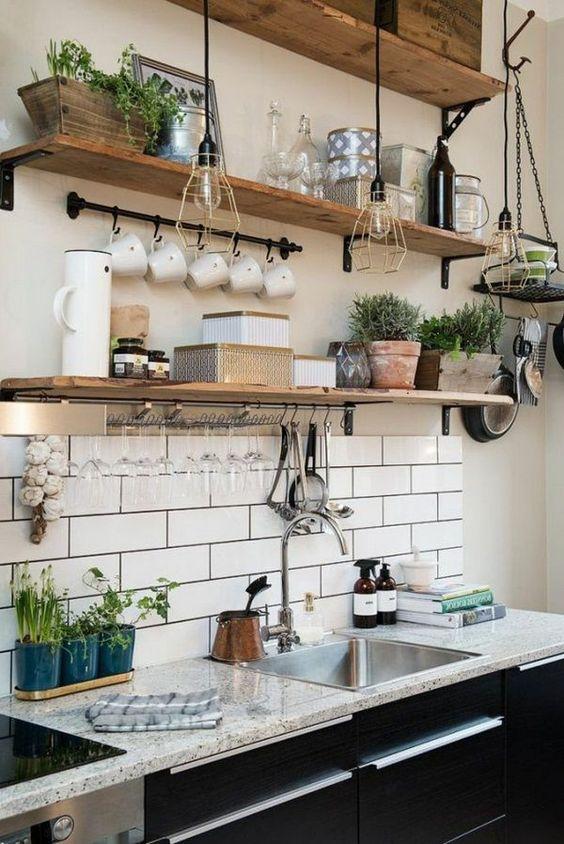 Kuchyne s otvorenými poličkami - Obrázok č. 93