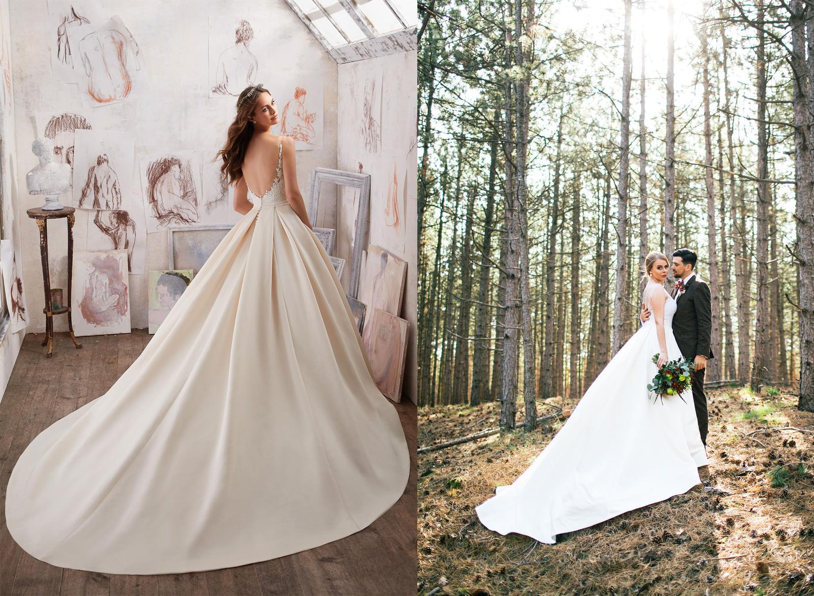 Svadobné šaty na modelke a na reálnej neveste - Nevesta @simonkaba a jej svadobné šaty Mori Lee model Marina zo svadobného salónu Zoya Wedding Center Trnava.