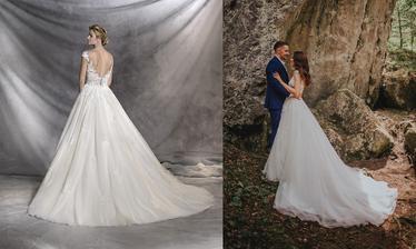 Nevesta @pepsinka146 a jej svadobné šaty Pronovias Ofelia zo svadobného salónu Jadei.