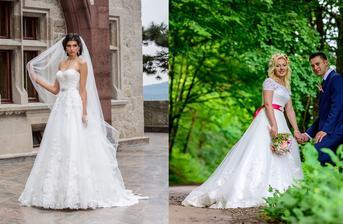 Nevesta @jajkaaa87 a jej svadobné šaty Domenico Rossi model Monica zo svadobného salónu Bonnet.