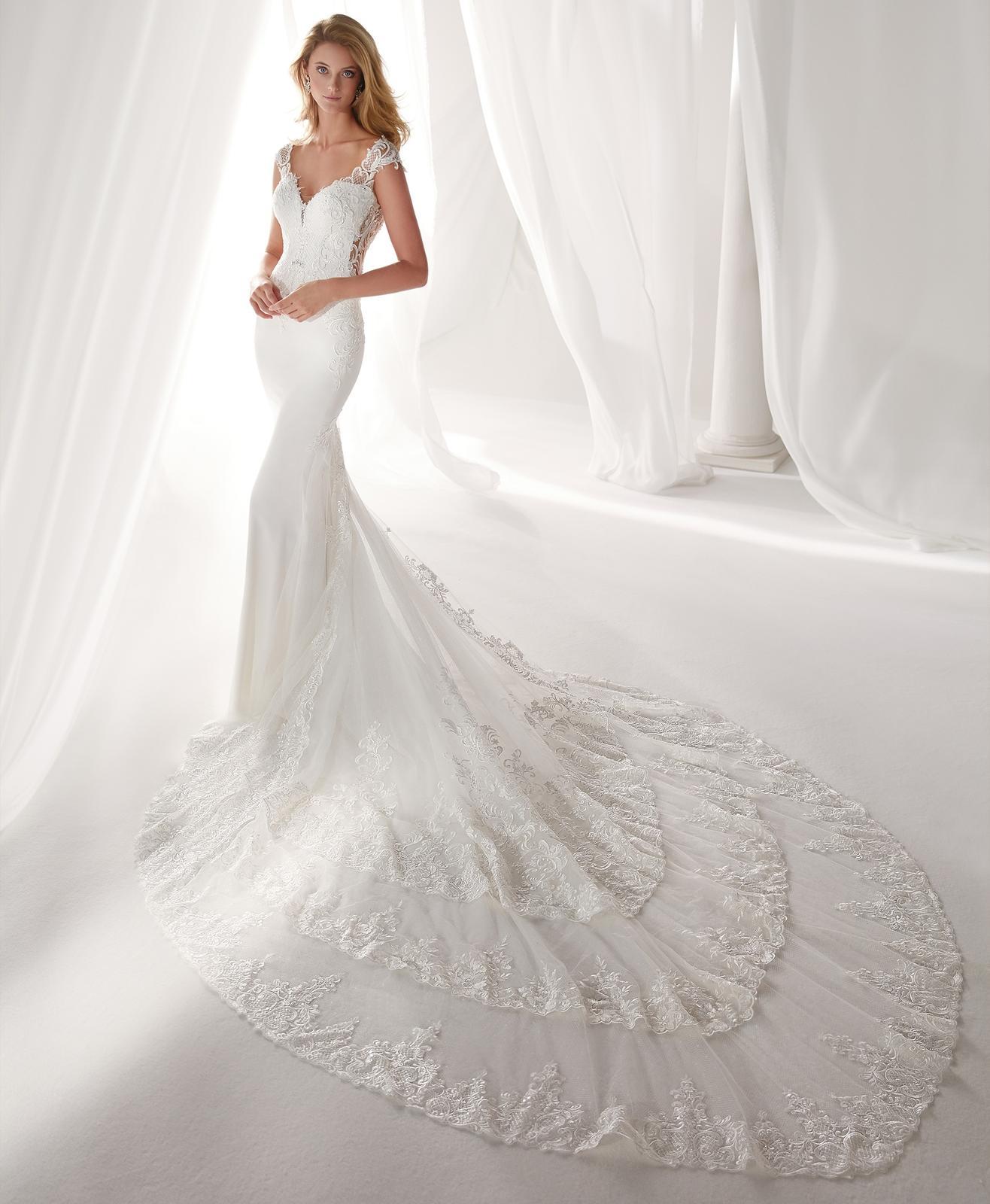 Svadobné šaty z kolekcií na rok 2019 - Obrázok č. 93