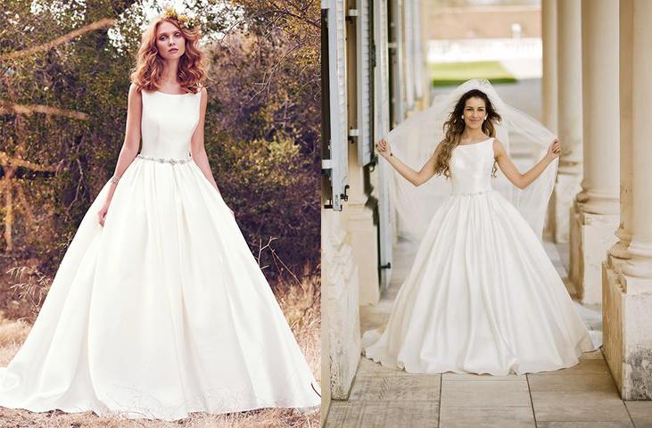 Svadobné šaty na modelke a na reálnej neveste - Nevesta @spot18 a jej svadobné šaty Maggie Sottero, model Verity zo Svadobného salónu El v Bratislave.