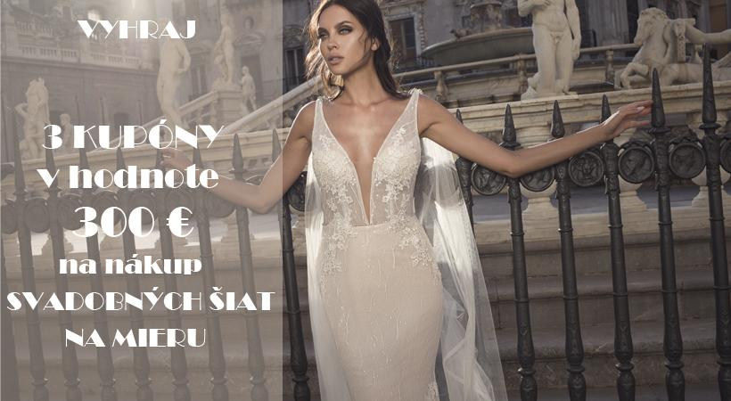Dievčatá, pripravili sme si pre vás súťaž o 3 poukazy na nákup svadobných šiat v hodnote 300€ v svadobnom salóne Vedana! :) Cena je viac než atraktívna, poďte sa zapojiť do súťaže. Stačí pridať fotku s vaším snúbencom a opísať tej najkrajší moment, ktorý ste spolu prežili. Poďte si zaspomínať a zároveň súťažiť tu: https://www.mojasvadba.sk/forum/mojasvadba-sk/vyhraj-3x-voucher-v-hodnote-300-na-nakup-svadobnych-siat-na-mieru-v-salone-vedana/ Tešíme sa na vaše príbehy! :) - Obrázok č. 1