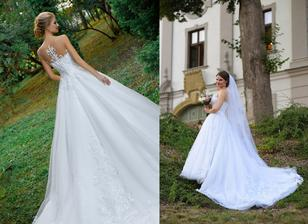 Nevesta @beatricek a jej svadobné šaty model Steffany zo salóna Zoya Wedding Centre.