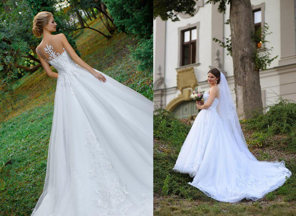 Svadobné šaty na modelke a na reálnej neveste - Nevesta @beatricek a jej svadobné šaty model Steffany zo salóna Zoya Wedding Centre.