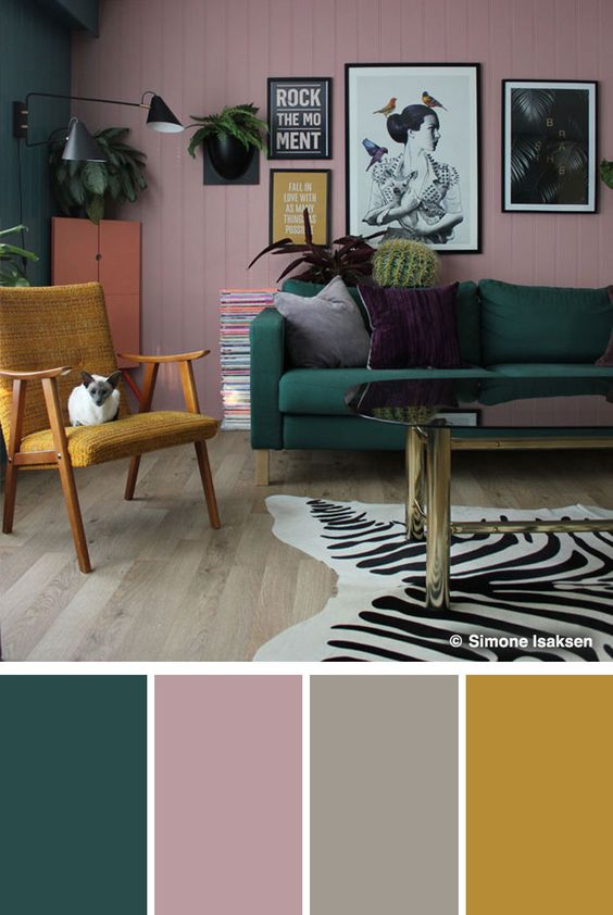 Farebné kombinácie - inšpirácie do interiéru - Obrázok č. 22