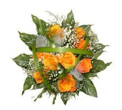 Oranžové růže.