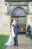 Originální asymetrické svatební šaty, 40