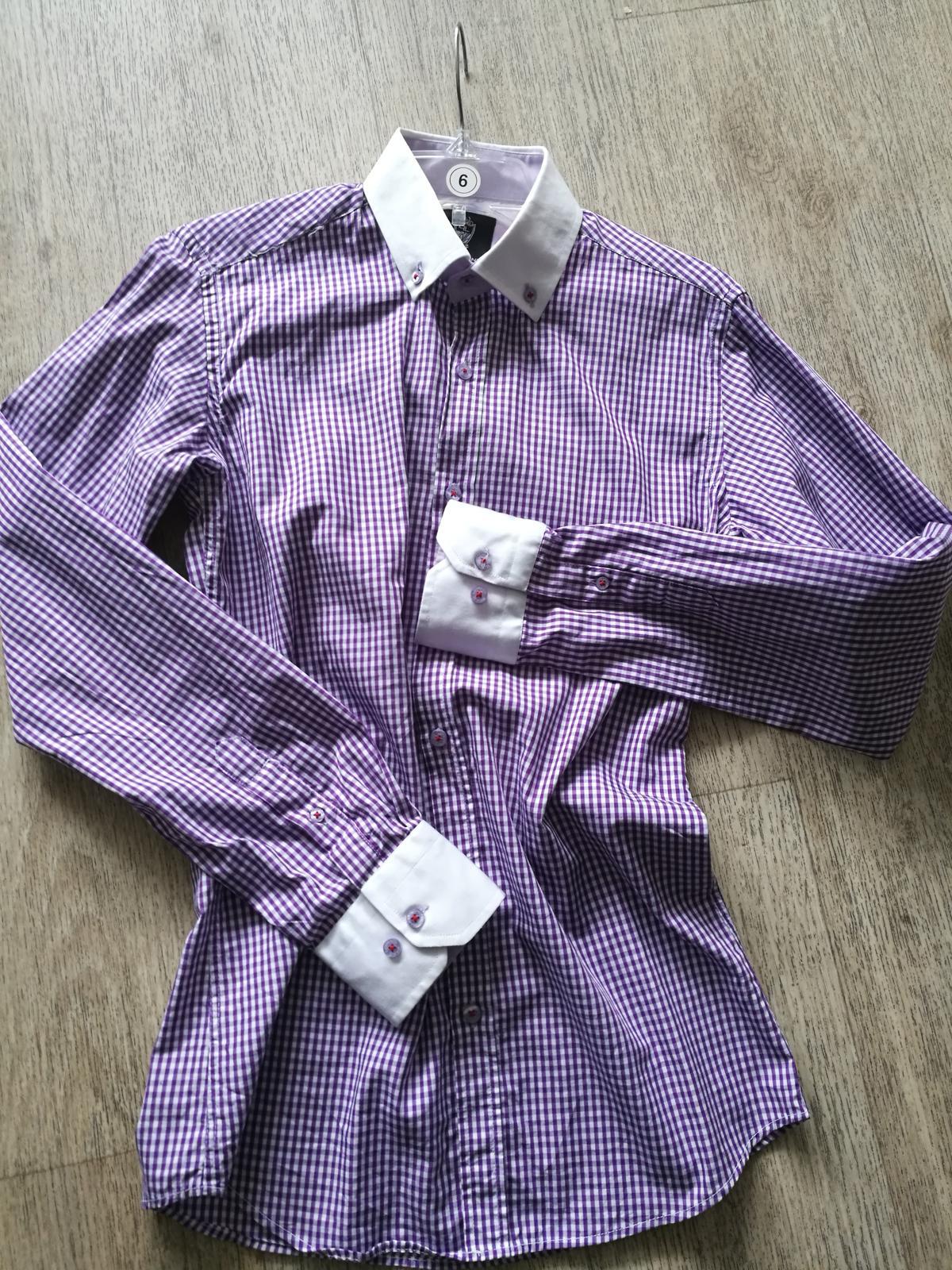 Košile kostičkovaná Slim fit vel S - Obrázek č. 1