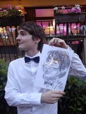 Darček pre všetkých hostí- karikaturista mal veľký úspech! :)