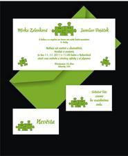 Oznámení a pozvánka - puzzle