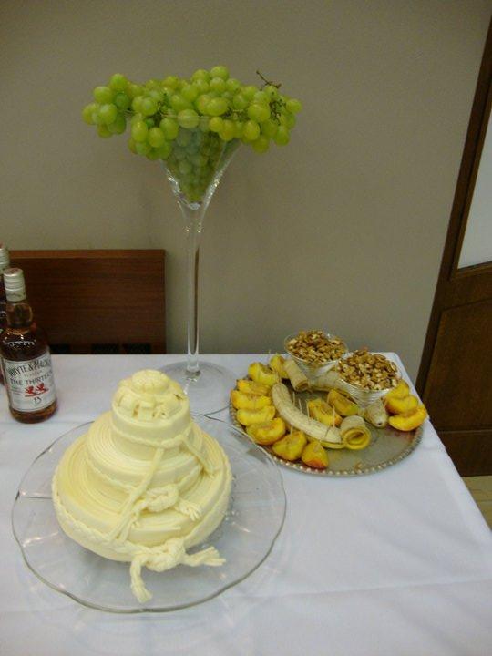 Ivetka a Janko 07.08.2010 - pripravy a skutocnost - vyborna syrova torta