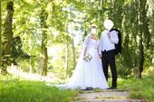 Svadobné šaty v.40-44 s vlečkou, 40