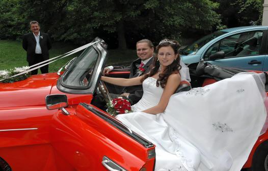 Jana K.{{_AND_}}Martin K. - naše svatební autíčko - stará Felície