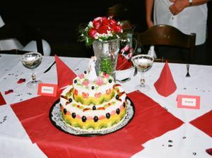 detail svatebního dortu