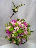 Růže s freziemi a santini