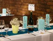 Dekorační lahve - na označení stolu nebo jako vázy,
