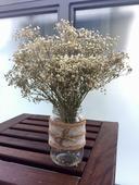Zavarovacky/jutove vazy na stul, vintage styl,