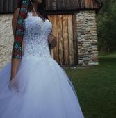luxusné svadobné šaty-nepoužité, 36