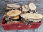 drevené podnosy podložky pláty okrúhle alebo šikmé,